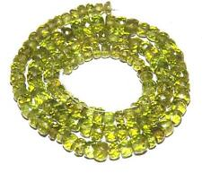 "98 cts 100% Natural Untreated Green Peridot Faceted Loose Beads 16"" #vplb19"