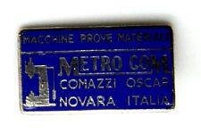 Spilla Metro Com Macchine Prove Materiali (Lorioli Fratelli Milano)