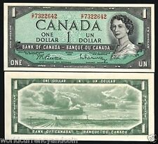 CANADA 1 DOLLAR P75B 1954 YOUNG QUEEN PRAIRIE UNC-CURRENCY PAPER MONEY BILL NOTE
