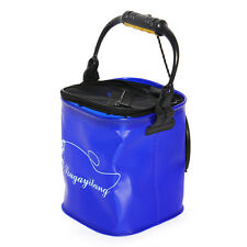 Camping Fishing Washing Portable Folding Bucket Outdoor Foldable Water Pail 9L