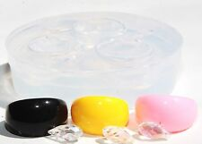 Multi-Clear-silicone Ring Molds+3 ps Pendant-earrings Crystal Glass bead (313)
