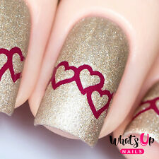 Heart Chain Stencils for Nails, Valentine's Day Nail Stickers, Nail Vinyls