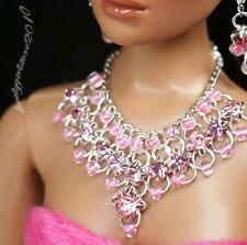 "Rhinestone Necklace and Earring Jewelry Set for 16"" Tonner Tyler doll 005B"