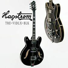 HAGSTROM TREVIDLXBLK TREMAR VIKING DELUXE. SEMI HOLLOW BODY GUITAR W/CASE