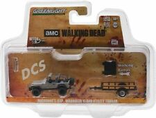GREENLIGHT THE WAKING DEAD MICHONNE'S JEEP WRANGLER YJ AND TRAILER  1/64 32080B
