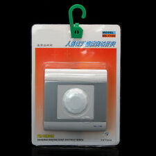 IR Infrared Motion Sensor Automatic ON/OFF Light Lamp Control Wall Switch 220V