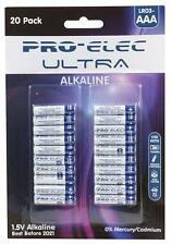 Pro elec-PSG91244-aaa ultra piles alcalines blister pack (20 pack)