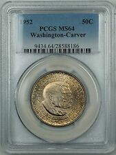 1952 Washington-Carver Silver Half Dollar Coin PCGS MS-64 Toned Obverse DGH
