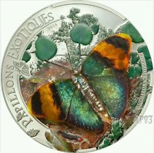 2014 Papillons Exotiques 3D Butterfly - Euphaedra Neophron Silver Proof Coin..
