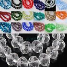 70pcs Rondelle Faceted Crystal Glass Loose Beads 8mm DIY Craft 34 Colors
