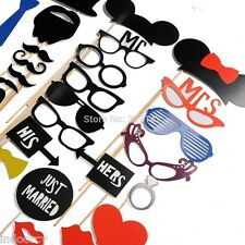 31pcs Creative Photo Booth Props Mustache Studio Wedding Birthday Party Funny