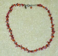 LIA SOPHIA STAND  ORANGE/ PINK BEADS  NECKLACE