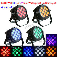 4pcst waterproof 12x18w 6in1 led par can light RGBWA UV disco equipment for sale