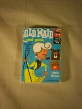Vintage 1959 Old Maid Card Game Made in USA Circus Edition Edu-Cards Complete
