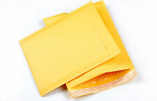10X 90*150+40mm Kraft Bubble Bag Padded Envelopes Mailers Shipping Yellow AU JC
