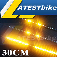 "NEW 30cm 12"" Car Truck Knight Rider LED Strobe Flash Strip Light Yellow"