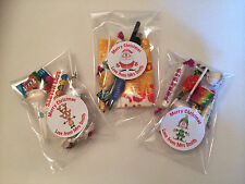 12 X TEACHER PUPIL CHRISTMAS SWEETS GIFT LOOT BAGS + PERSONALISED STICKERS S1/C