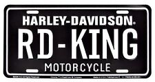 Harley Davidson Road King Embossed Metal Vanity Car License Plate Auto Tag