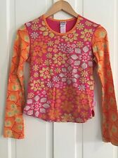 OILILY Vintage Women's Bright Citrus Tee Sz Small S, GUC