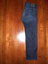 DIESEL MADE IN USA 'SAFADO' 0RZ31 WASH REGULAR SLIM STRAIGHT DARK JEANS 38x32