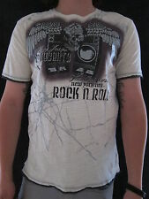 DKNY JEANS Rock & Roll Winged Skull Armory Studded T Shirt Top Size SMALL NWT