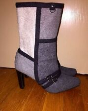 New York Transit for Nine West Wool High Heels Wedges Boots Womens Shoes Sz 6.5