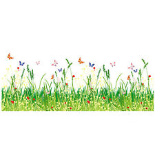 Flower Grass Fence Wall Stickers Decal Vinyl Removable Decor Nursery Art Home US