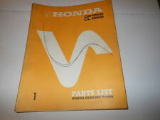 OEM Factory Honda 1973 CB125s Parts List Manual 83 Pages
