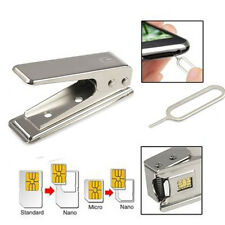 Standard Micro To Nano SIM Card Metal Cutter +2 Adapters For Apple iPhone5 5th