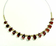 Grade AAA Natural Faceted Mozambique Garnet Briolettes, 7X4mm