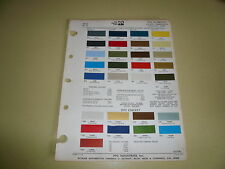 1972 Plymouth Ditzler PPG Color Chip Paint Sample - Valiant Barracuda Fury
