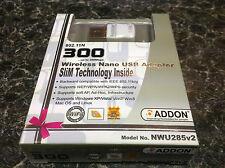 Addon Mini USB Wi-Fi n Adaptador 300Mbps (802. 11b/g/n)