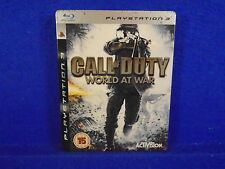 ps3 CALL Of DUTY World At War Steelbook Tin Edition WWII 2  Playstation PAL