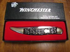 "Vintage Winchester W 15 1924 Toothpick Knife Rogers Bone Handle 4 3/8"" closed"