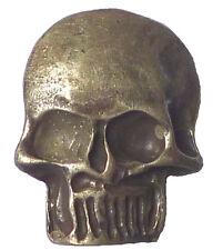 1 Bottone 30 mm Teschio Metallo con occhiello argento anticato real argentato