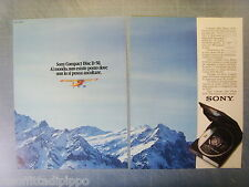 AIRONE985-PUBBLICITA'/ADVERTISING-1985- SONY COMPACT DISC D-50 vers.A  (2 fogli)