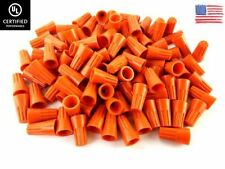(1000/PACK) Orange Twist-On Wire Connectors Conical nuts 22-14 Gauge Wire-Nut UL