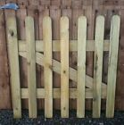 WOODEN PICKET GARDEN GATE HIGH QUALITY WOOD 3FT X 3FT - plus FREE HARDWARE