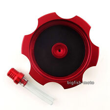 CNC Billet Red Gas Fuel Tank Cap Cover For Honda TRX 400 EX 1999-2010