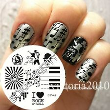 Nagel Schablone Nail Art Stamp Stamping Template Plates BORN PRETTY 47
