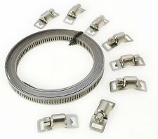CT1691 Hose Clamp Clips Jubilee Kit Make Your Clamps Any Size 3m x 8mm 8 Clamps