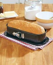 Springform Loaf Baking Pan Formed Cakes Bread Kitchen Bakeware Freezer Oven Safe