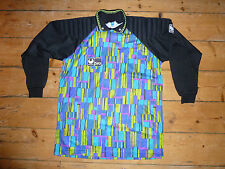 1980s Rave Pattern Football Shirt Uhlsport soccer Goalkeeper Jersey size:XL