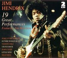 JIMI HENDRIX - 19 Great Performances (featuring Jim Morrison) 2-CD Set EXC
