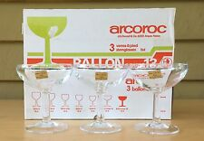 Vintage Arcoroc Ballon 13 Toughened Glass Champagne Coupe - Set of 6 - 4.39oz