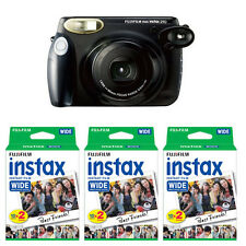 Fujifilm Fuji Instax 210 Wide Instant Film Camera, Black + 60 Prints Film