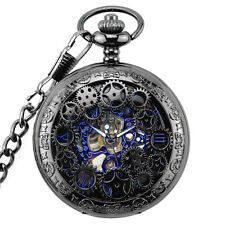 Antique Mechanical Skeleton Steampunk Mens Pocket Watch Gift Chain Watch 2017