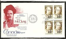 Canada SC # 622 Nellie McClung FDC . BLK4 .  Kingswood Cachet