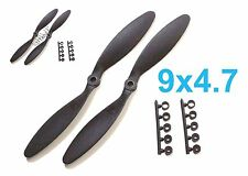 "4pcs 9x4.7"" Slow Flyer SF Electric Propeller w/ Adapters, US 001-00309B"