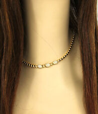 Van Cleef & Appels VCA French 18k Yellow Gold & Diamond Ladies Choker Necklace